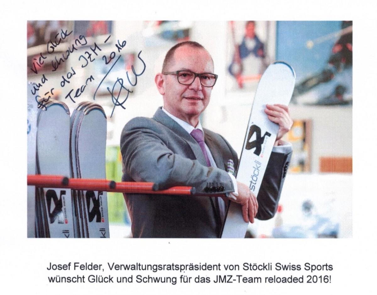 FELDER Josef, VRP der Stöckli Swiss Sports AG wünscht uns viel Glück